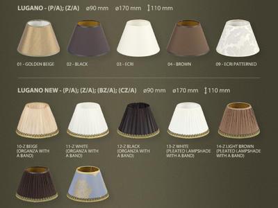 Фото абажуры для люстр и светильников Lugano, купить с доставкой на skylight.com.ua