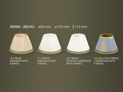Фото абажуры для люстр и светильников Roma, купить с доставкой на skylight.com.ua