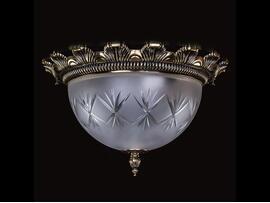 Фото потолочный светильник ArtGlass Lea II античная латунь, купить с доставкой на skylight.com.ua