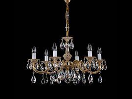 Фото люстра литая рожковая ArtGlass Alice VI белое золото, купить с доставкой на skylight.com.ua