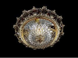 Фото потолочный светильник ArtGlass Charlize dia. 470 античная латунь, купить с доставкой на skylight.com.ua