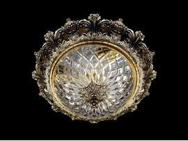Фото потолочный светильник ArtGlass Charlize dia. 390 античная латунь, купить с доставкой на skylight.com.ua