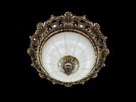 Фото потолочный светильник ArtGlass Sharleen dia. 320 античная латунь, купить с доставкой на skylight.com.ua