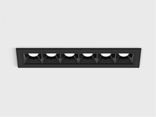 Фото точечный врезной светильник LTX VARIO COMFORT 151 черный (01.1511.9.930.BK), купить с доставкой на skylight.com.ua