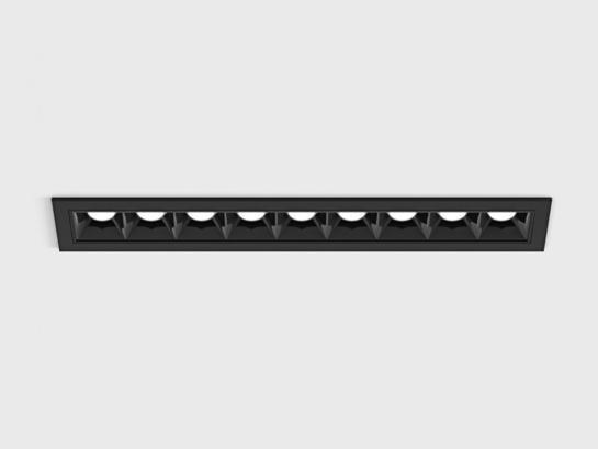 Фото точечный врезной светильник LTX VARIO COMFORT 218 черный (01.2181.14.930.BK), купить с доставкой на skylight.com.ua