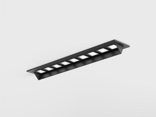 Фото точечный врезной светильник LTX VARIO WALL WASHER 218 черный (01.2185.10.940.BK), купить с доставкой на skylight.com.ua