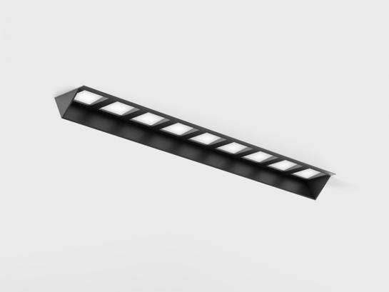 Фото  точечный врезной светильник LTX VARIO WALL WASHER 218 TRIMLESS черный (01.2185.14.930.BK + VARIO FRAME3) , купить с доставкой на skylight.com.ua