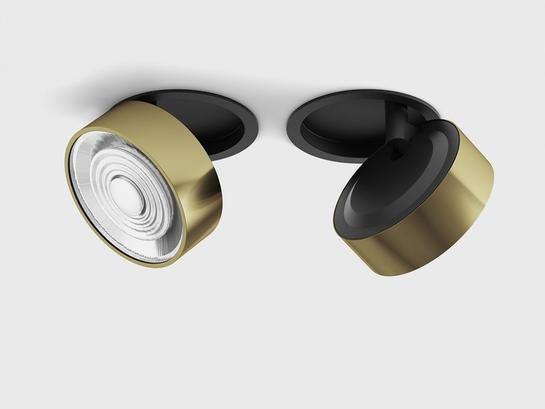 Фото точечный светильник LTX SOL IN черный (01.9533.14.930.BK + SOL RING BRASS), купить с доставкой на skylight.com.ua