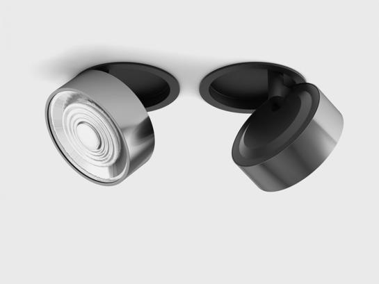 Фото точечный светильник LTX SOL IN черный (01.9533.14.930.BK + SOL RING CHROME), купить с доставкой на skylight.com.ua