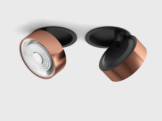 Фото точечный светильник LTX SOL IN черный (01.9533.14.930.BK + SOL RING COPPER), купить с доставкой на skylight.com.ua
