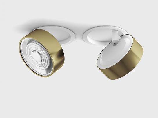 Фото точечный светильник LTX SOL IN белый (01.9533.14.930.WH + SOL RING BRASS), купить с доставкой на skylight.com.ua