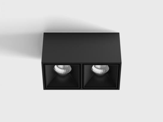 Фото точечный светильник LTX BLOCK 2 черный (02.8020.20.830.BK), купить с доставкой на skylight.com.ua