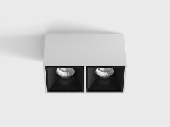 Фото точечный светильник LTX BLOCK 2 белый (02.8020.20.830.WH/BK), купить с доставкой на skylight.com.ua