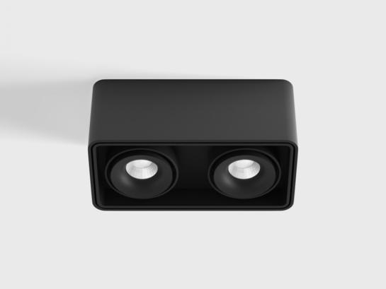 Фото точечный светильник LTX BOX 2 черный (02.8040.20.830.BK), купить с доставкой на skylight.com.ua