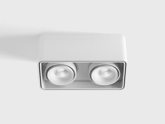 Фото точечный светильник LTX BOX 2 белый (02.8040.20.830.WH), купить с доставкой на skylight.com.ua