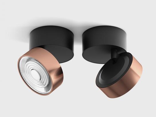 Фото точечный светильник LTX SOL SURF черный (02.9533.14.930.BK + SOL RING COPPER), купить с доставкой на skylight.com.ua