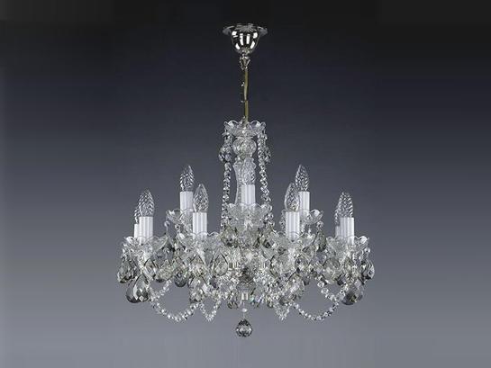 Фото хрустальная рожковая люстра ArtGlass CARMEN nickel (CE, (8006)), купить с доставкой на skylight.com.ua
