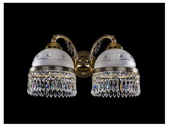 Фото хрустальное бра ArtGlass KARAT II CE brass antique, купить с доставкой на skylight.com.ua