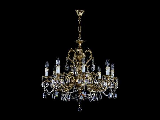 Фото хрустальная рожковая люстра ArtGlass S-CH-CF-0001-008-BA-CE, купить с доставкой на skylight.com.ua