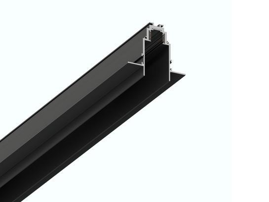 Фото встраиваемый магнитный трек LH-35/R 1м черный LiGHT HUB LH-TRACK-35/R, купить с доставкой на skylight.com.ua