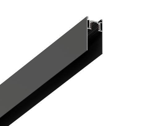 Фото магнитный трек для накладного/подвесного монтажа LH-35/S 2м черный LiGHT HUB LH-TRACK-35/S, купить с доставкой на skylight.com.ua