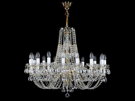 Фото люстра хрустальная рожковая ArtGlass Angelika dia 850, купить с доставкой на skylight.com.ua